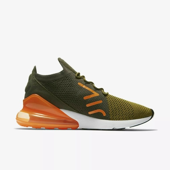 fe7c6594365 Nike Air Max 270 Flyknit Shoes Olive AO1023-301